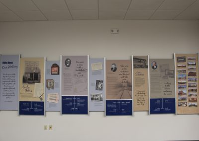 Bank History Wall Display