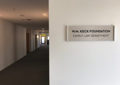 Custom Room Signage created in Rail Wall Systems by Presentations