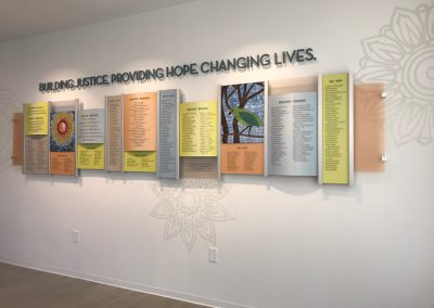 Donor Wall for Legal Aid Foundation of Los Angeles Designed by Pink Kitty Creative