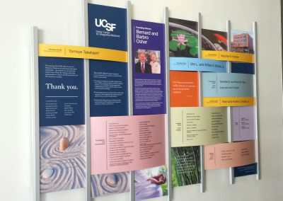 University of California donor recognition wall