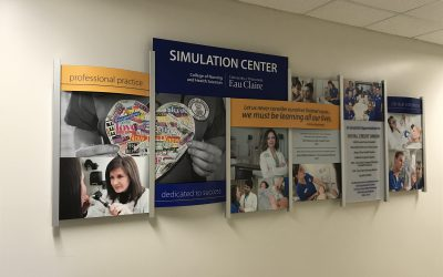 University Nursing Department Donor Wall Display