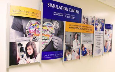 University Nursing Department Donor Wall Display