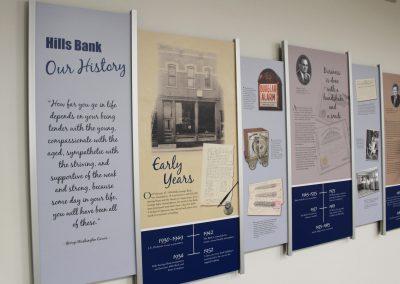 Bank Branding and History Walls - Cedar Rapids, IA