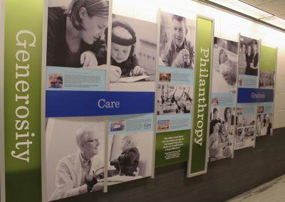 Hospital Branding Wall - St. Lukes - Iowa