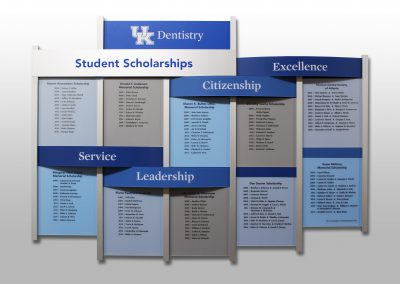 University-student-recognition-donor-wall-rail-wall-system